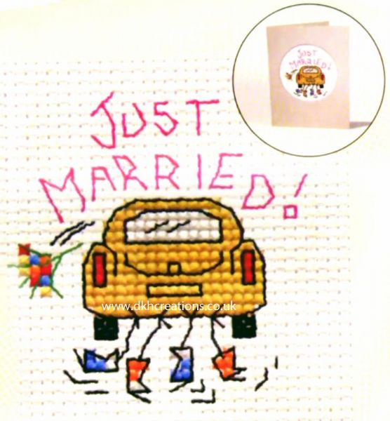 Just Married Card Cross Stitch Kit